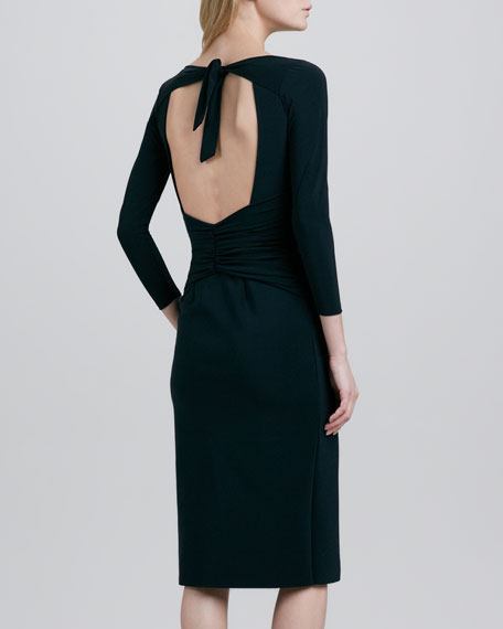 Paolina Open-Back Tie Cocktail Dress