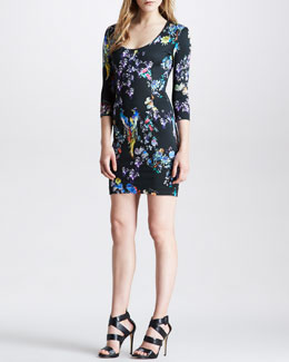 Just Cavalli Paradise Wallpaper Scoop-Neck Dress