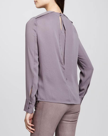 Federica Fold-Shoulder Top