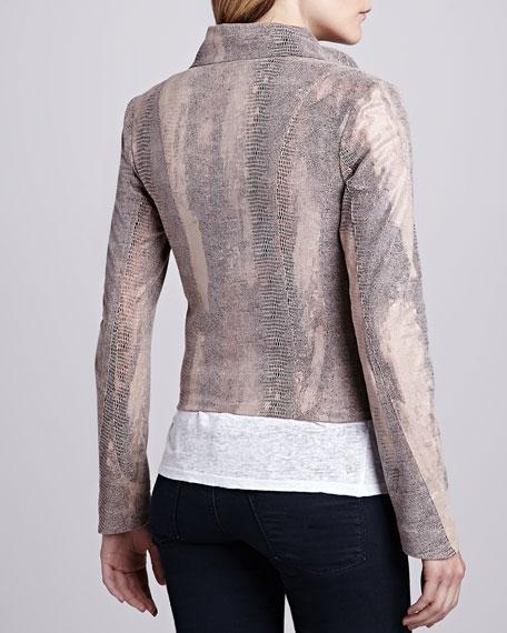 Queensway Lizard-Print Jacket