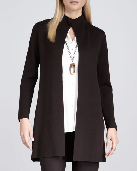 Long Stand Collar Shaped Jacket