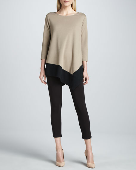 Cropped Jersey Leggings