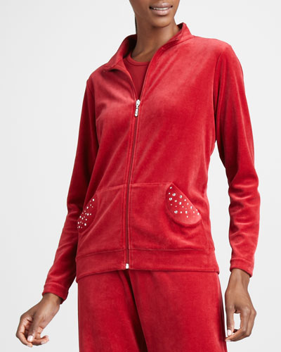 Velour Track Jacket, Women