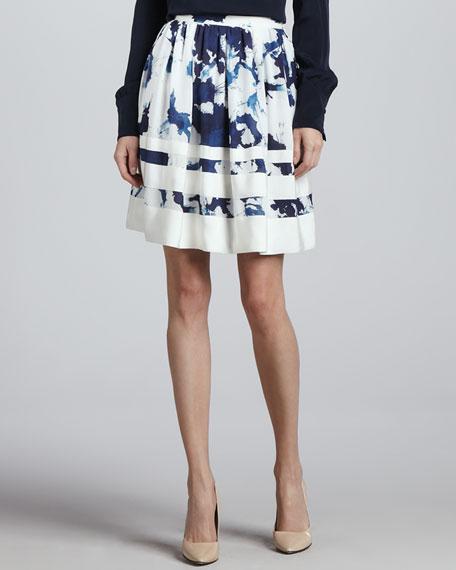 Duncan Inkblot-Print Skirt