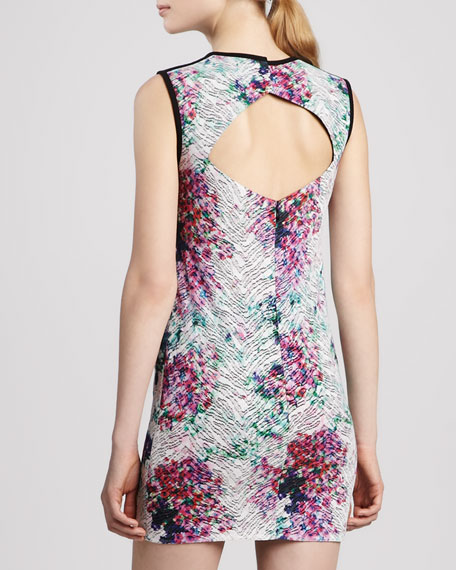 Floral-Print Cutout-Back Dress