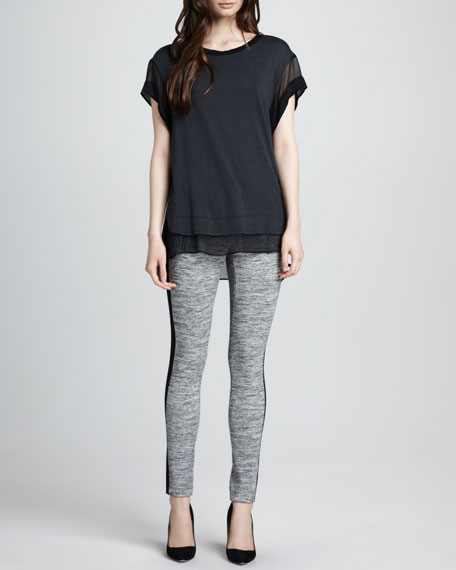 Side-Panel Knit Leggings
