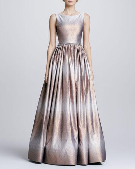 Caddie Metallic Ombre Gown