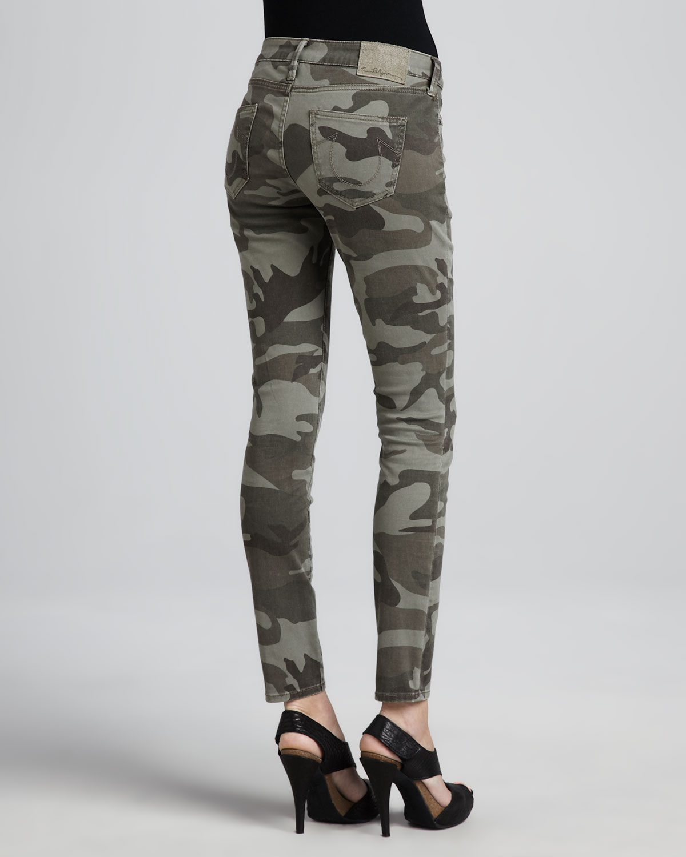 True Religion Casey Stretch Camo Low-Rise Super Skinny Pants ...