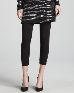 Joan Vass Cropped Leggings