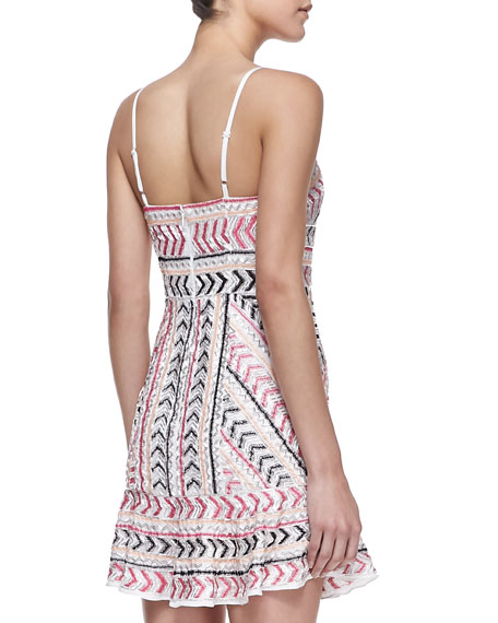 Casey Sleeveless Beaded Silk Dress