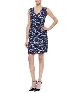 Shoshanna Sleeveless Lace Sheath Dress