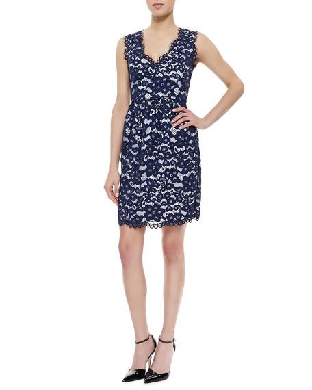 Sleeveless Lace Sheath Dress