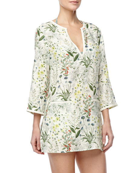 Tomino Linen Coverup Tunic