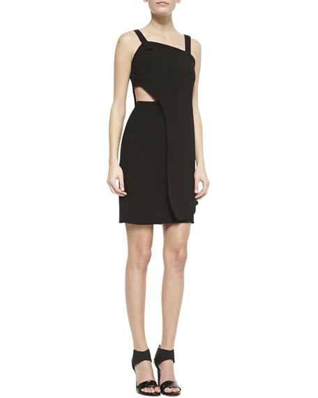 Theroux Two-Layer Cutout Sleeveless Dress