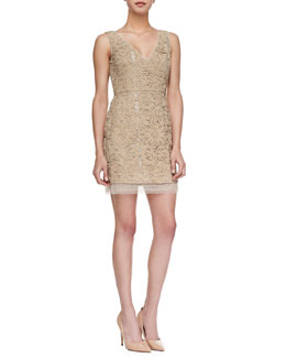 BCBGMAXAZRIA Marissa Tulle-Hem Lace Dress