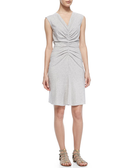 Stellyn Sleeveless Ruched-Center Dress