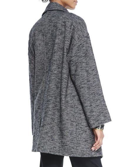 Tweed High-Collar Watercolor Coat