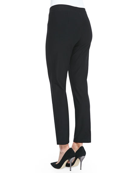 Washable Crepe Slim Ankle Pants