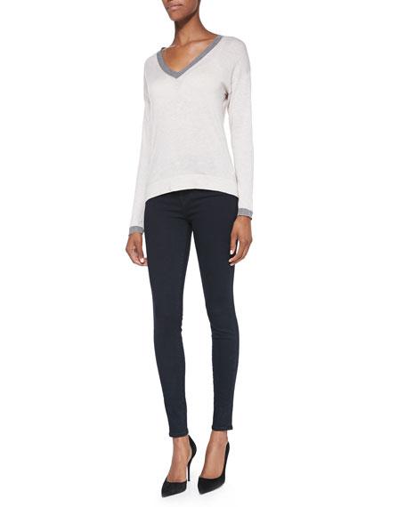 Maria High-Rise Skinny Jeans, Bluebird