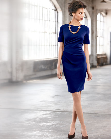 SIDE ROUCHED DRESS