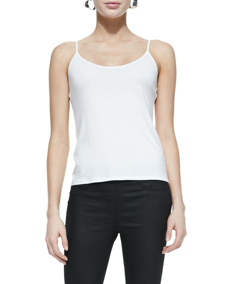 Eileen Fisher Scoop-Neck Jersey Cami, White