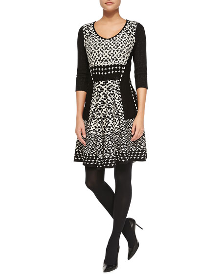 NIC+ZOE Half Moon Twirl Dress, Petite