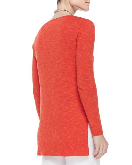 Organic Linen/Cotton Slub V-Neck Tunic