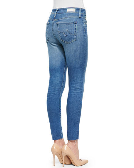Farrah 22 Years Spire Skinny Cropped Frayed Jeans