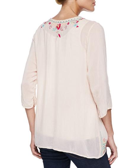 Priscilla Embroidered Tunic, Plus Size