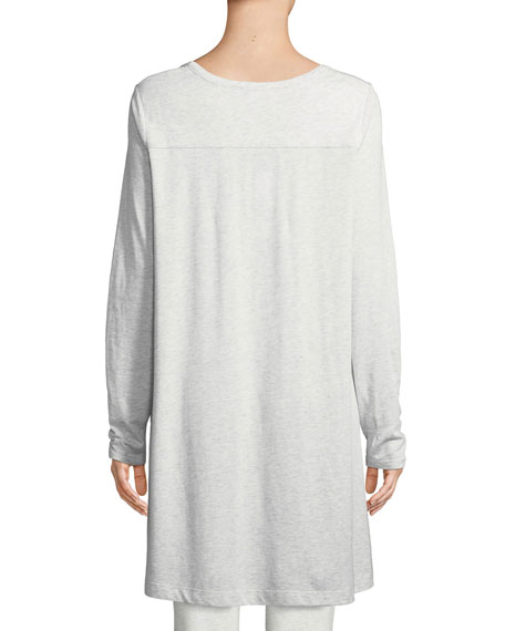 Scoop-Neck Long-Sleeve Tunic, Petite