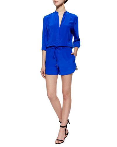 Paolo Long-Sleeve Jumpsuit W/ Drawstring