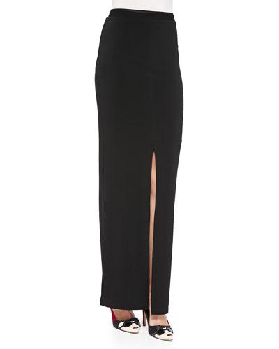 Side-Slit Slim Maxi Skirt