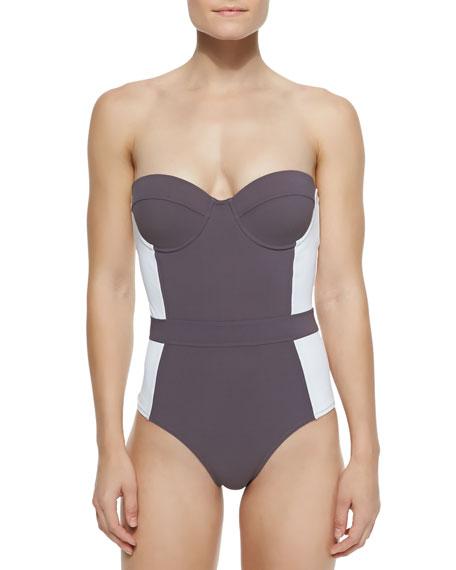 Lipsi Colorblock One-Piece Swimsuit