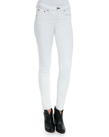 Mid-Rise Super Skinny Jeans, Bright White