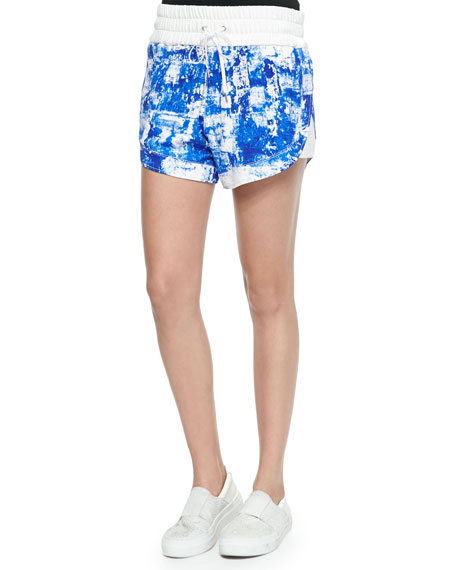 Villous Printed Drawstring Shorts