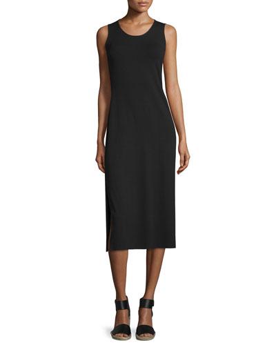 Eileen Fisher Floor-Length Jersey Dress, Black
