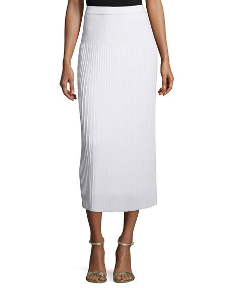 Misook Long Pleated Knit Skirt