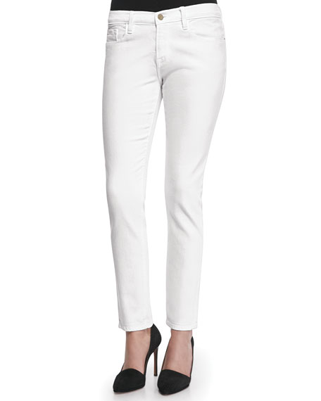 FRAME DENIM Le Garcon Blanc Denim Jeans