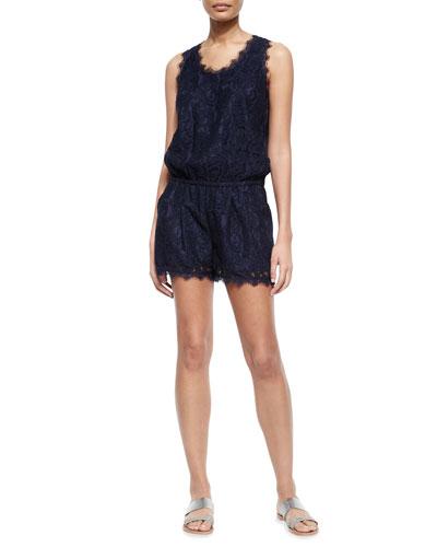 Jardeene Short Lace Jumpsuit