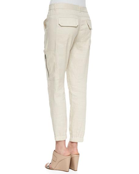 c19cc980c9 Vince Thick Linen Cargo Pants