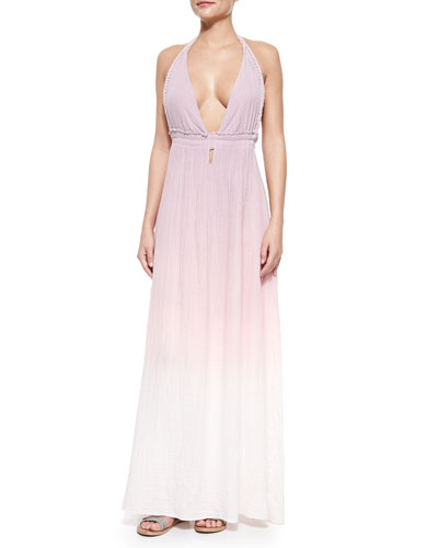 Braided Love Ombre Voile Maxi Dress