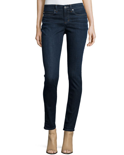Organic Soft Stretch Skinny Jeans, Washed Indigo