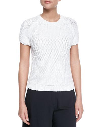 Dontalyn Knit Short-Sleeve Sweater