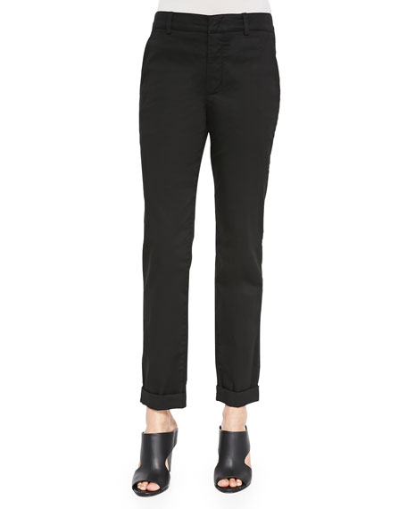 Vince Cuffed Twill Boyfriend Trousers