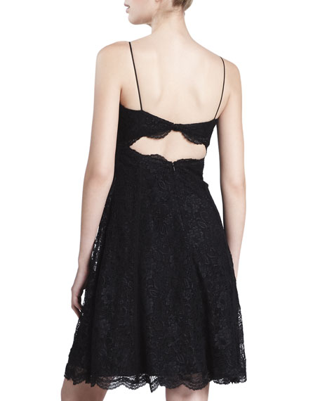 Corseted Lace Cocktail Dress