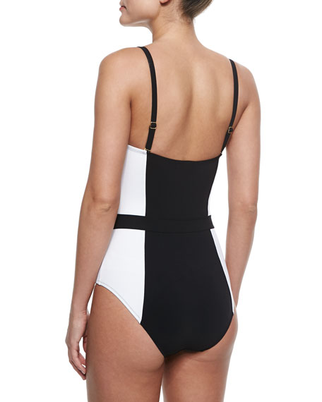 Lipsi Two-Tone One-Piece Swimsuit