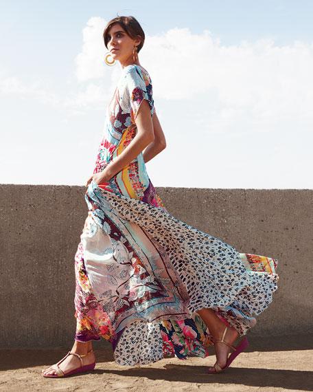 Printed Georgette Maxi Dress