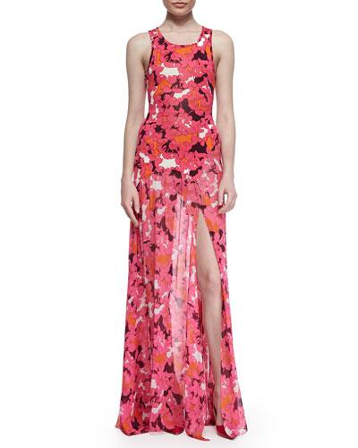 Davina Floral-Print Maxi Dress