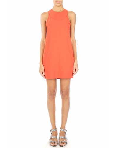 Coated Fitted Camisole Dress