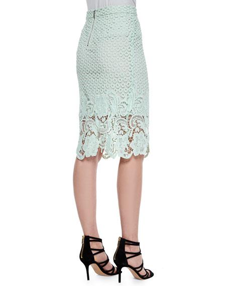 Armor Lace Pencil Skirt
